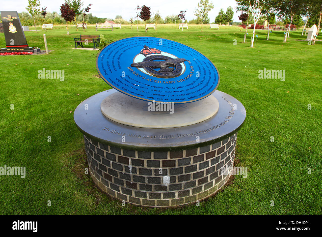 The Women's Auxiliary Air Force memorial at the National Memorial Arboretum Alrewas Staffordshire England UK - Stock Image