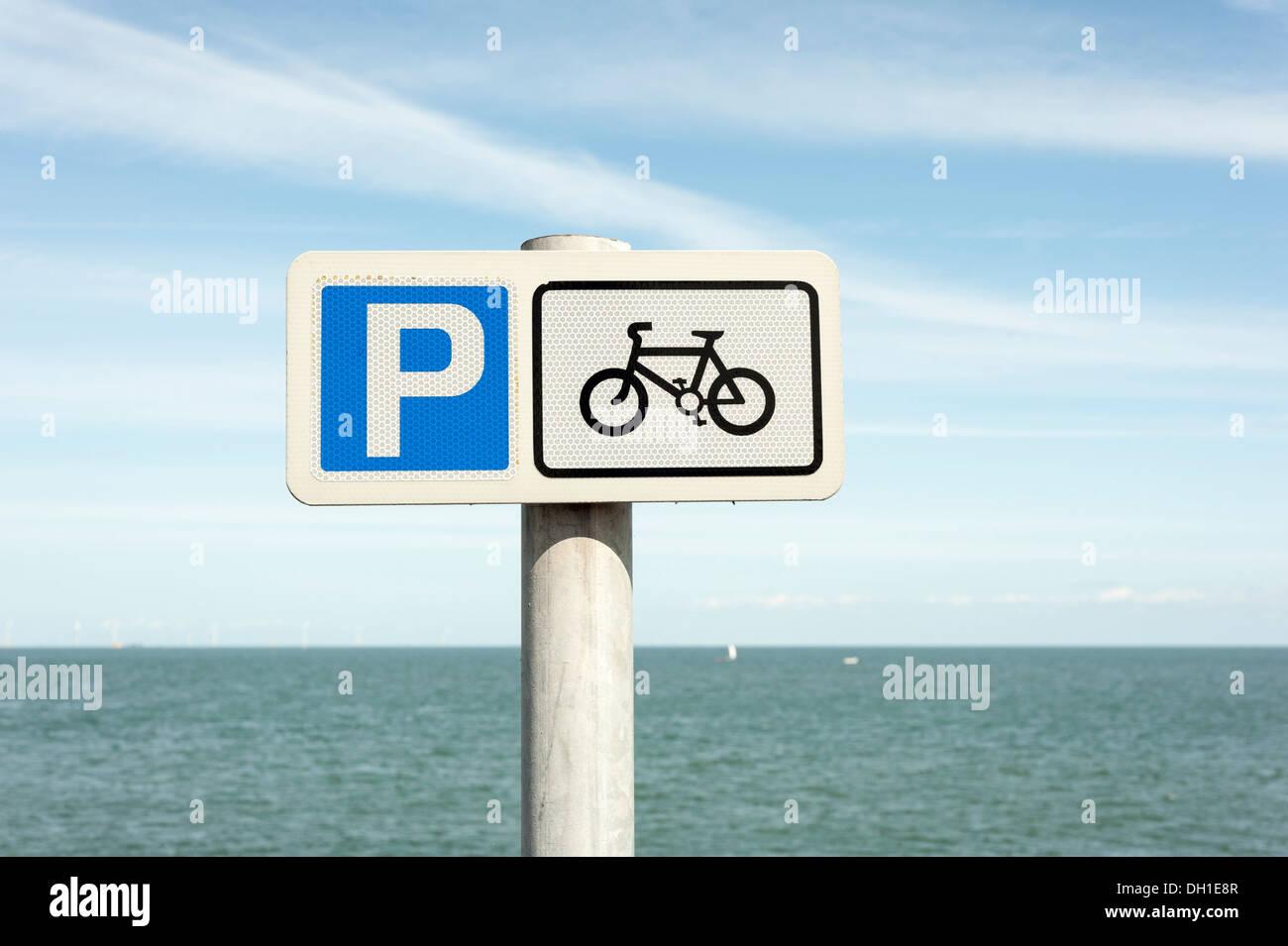 Rhos on Sea-Signs on the Promenade. - Stock Image