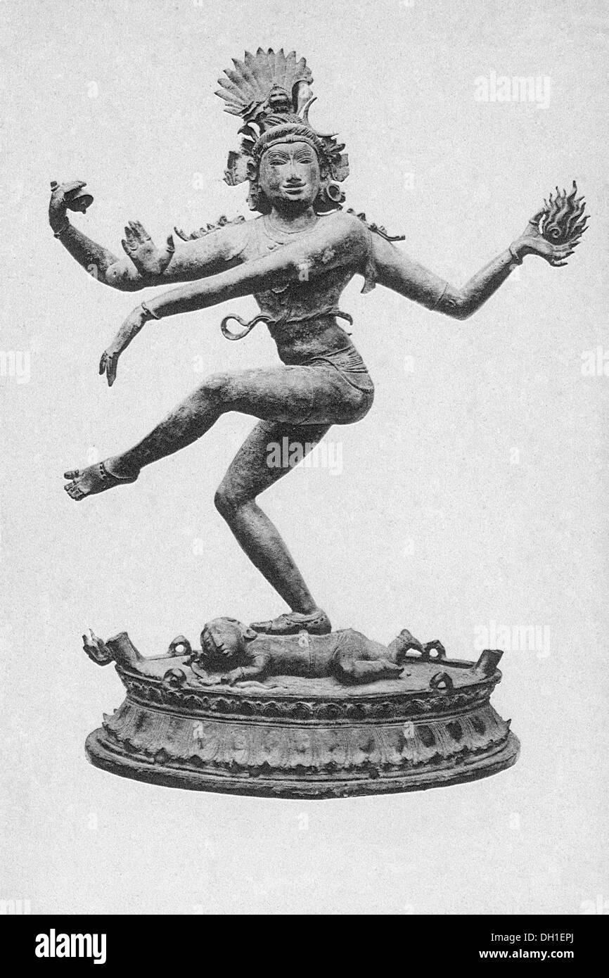 old vintage photo of Nataraj idol in madras museum tamil nadu India - Stock Image