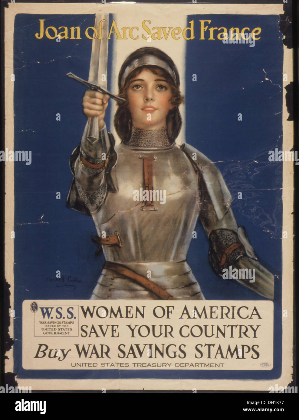 Joan of Arc Saved France. Women of America. Save Your Country. Buy War Savings Stamps. W.S.S. War Saving Stamps... 512620 - Stock Image