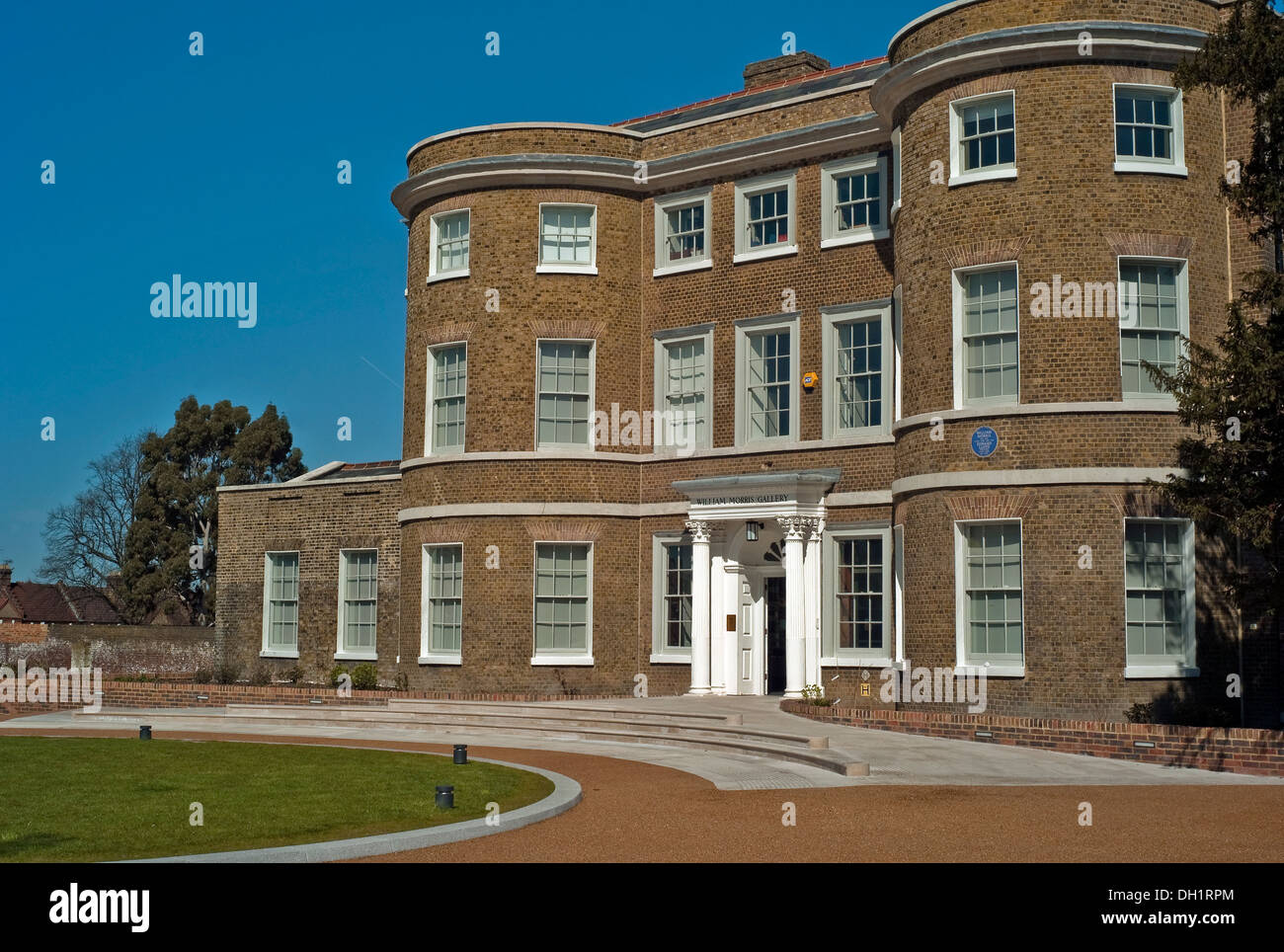 The William Morris Gallery, grade II* listed building Lloyd Park in Walthamstow, in north-east London. - Stock Image
