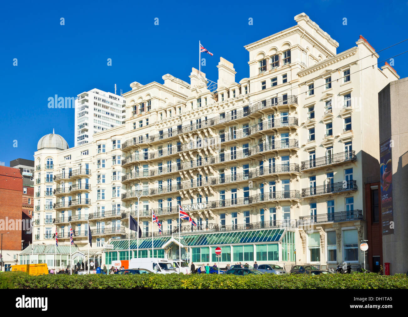 The Grand Hotel Brighton seafront West Sussex England UK GB EU Europe - Stock Image