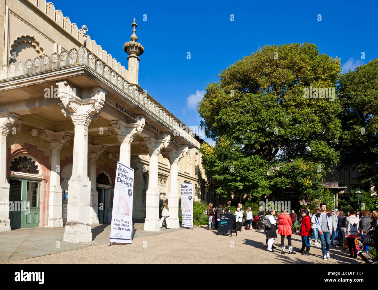 Brighton Museum and art Gallery in the Royal Pavilion Gardens Brighton West Sussex England UK GB EU Europe - Stock Image