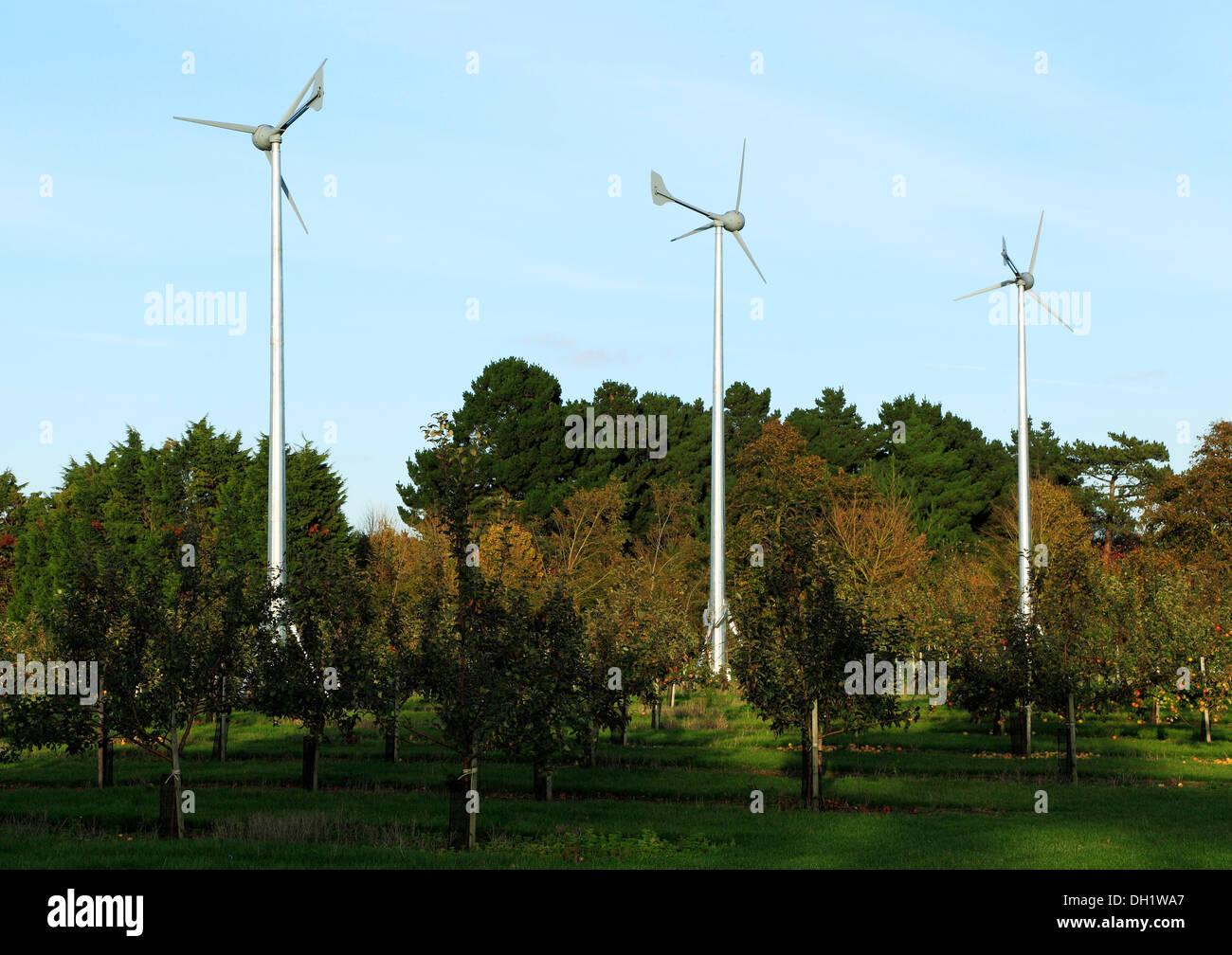 Domestic Wind Turbines, turbine, green energy UK - Stock Image