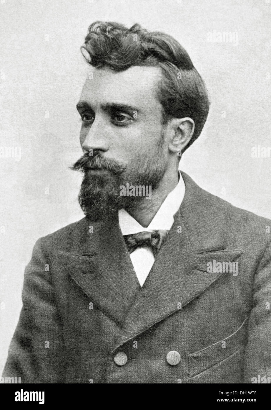 Ignasi Iglesias Pujadas (1871-1928). Spanish playwright and poet. The Catalan Illustration, 1904. - Stock Image