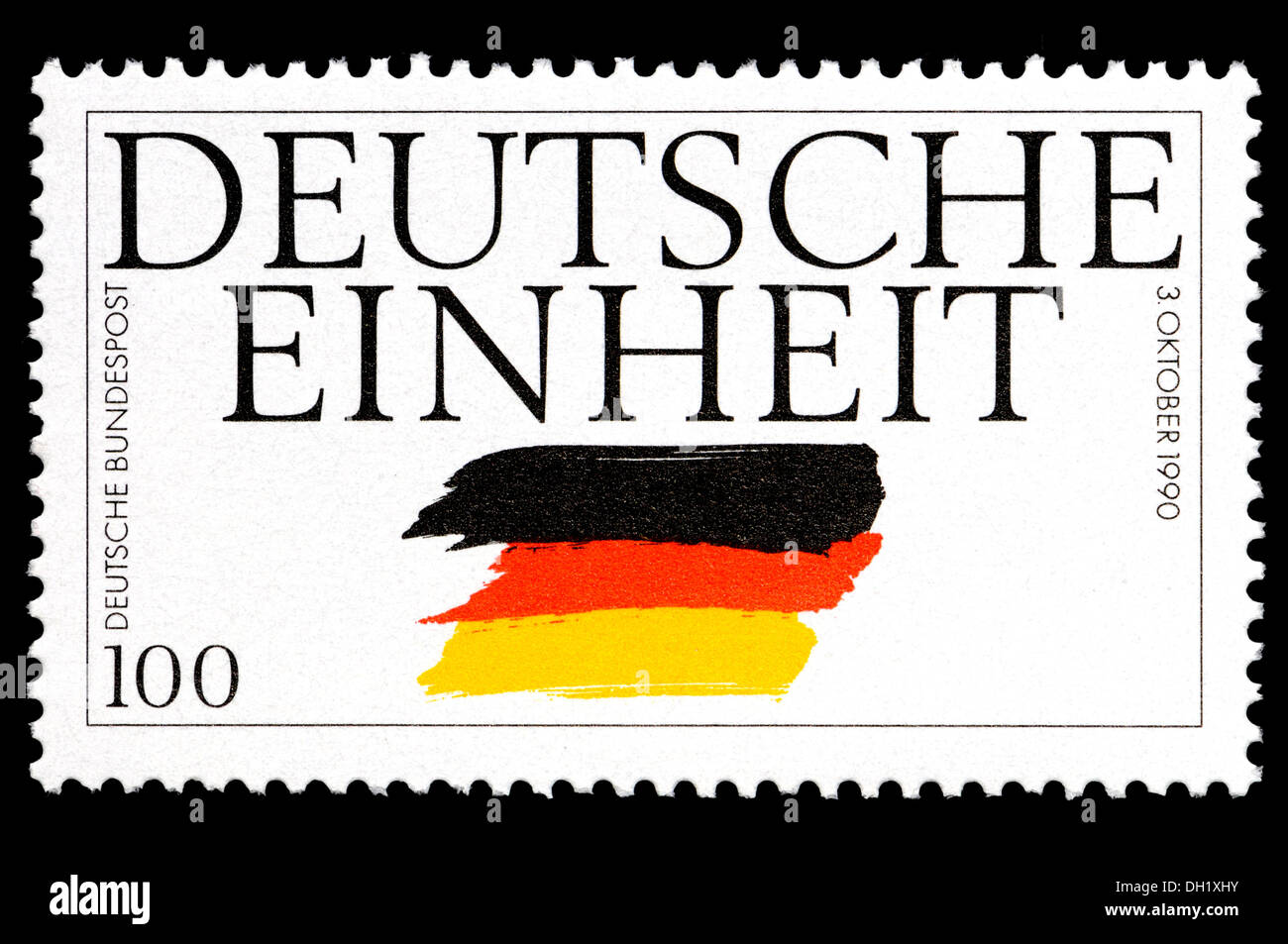 German Postage Stamp Celebrating The Unification Of East And West Germany 3rd October 1990