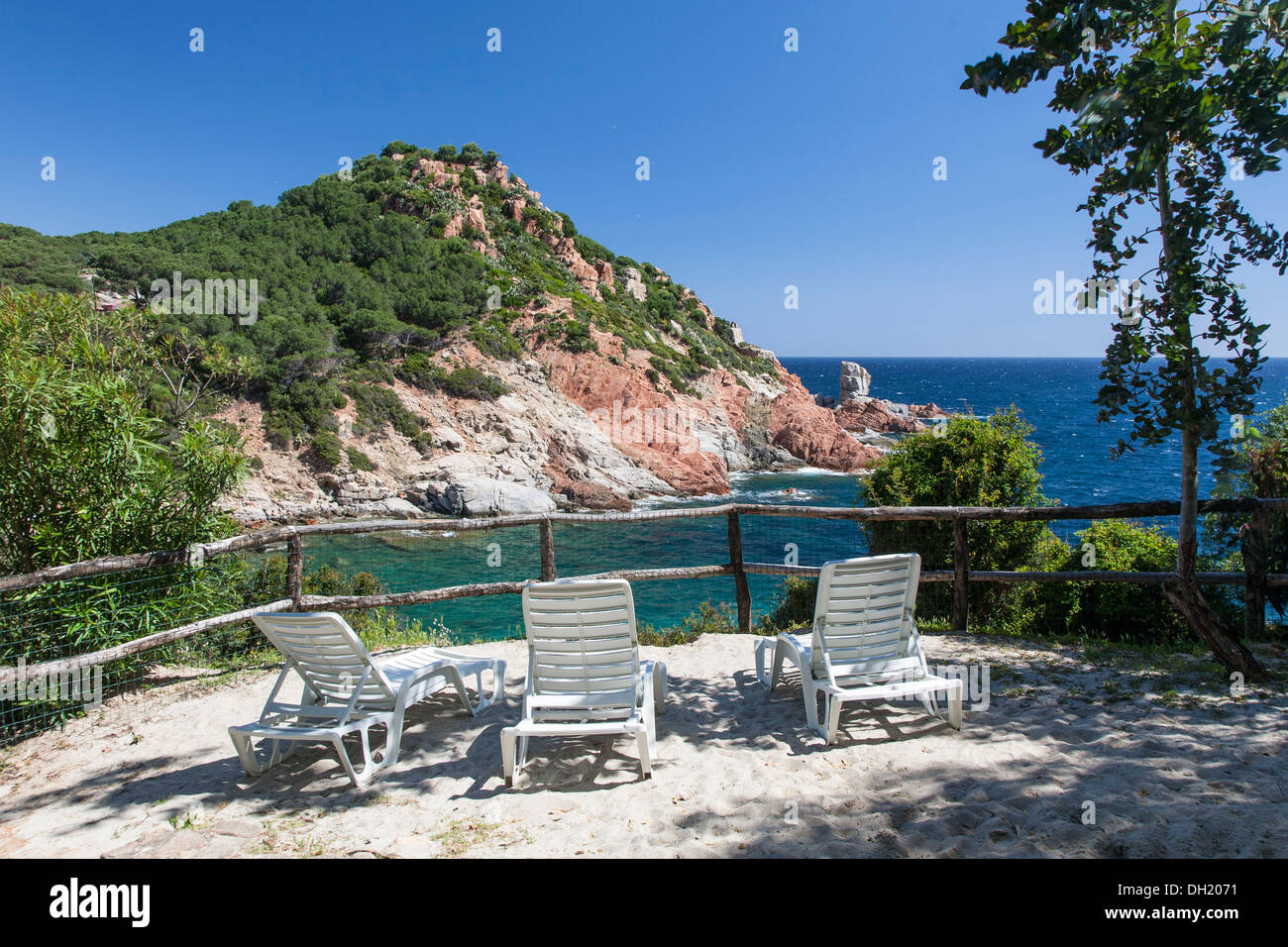 Outlook on the Sardinia coast - Stock Image