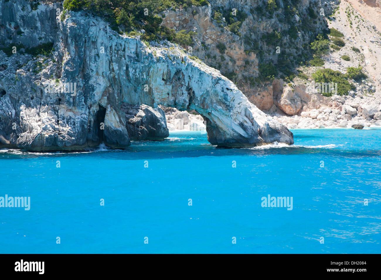Arch on the coast of Sardinia - Stock Image