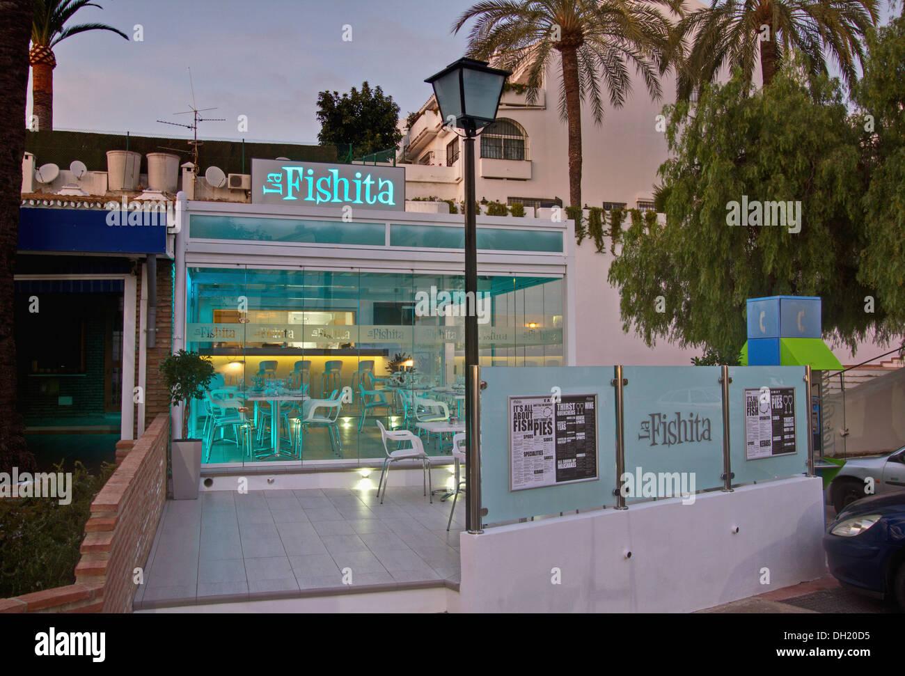 Exterior Of Fishita A Modern Spanish Fish Restaurant Fishita Stock Photo Alamy