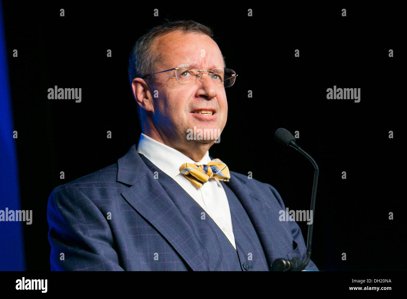 Toomas Hendrik Ilves, the President Of Estonia.  - Stock Image
