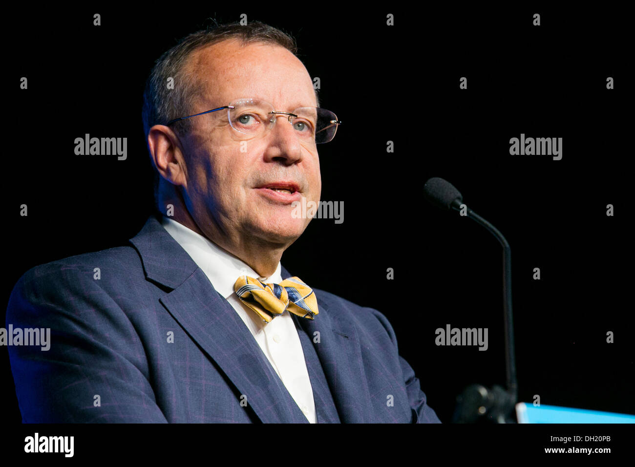 Toomas Hendrik Ilves, the President Of Estonia.  Stock Photo