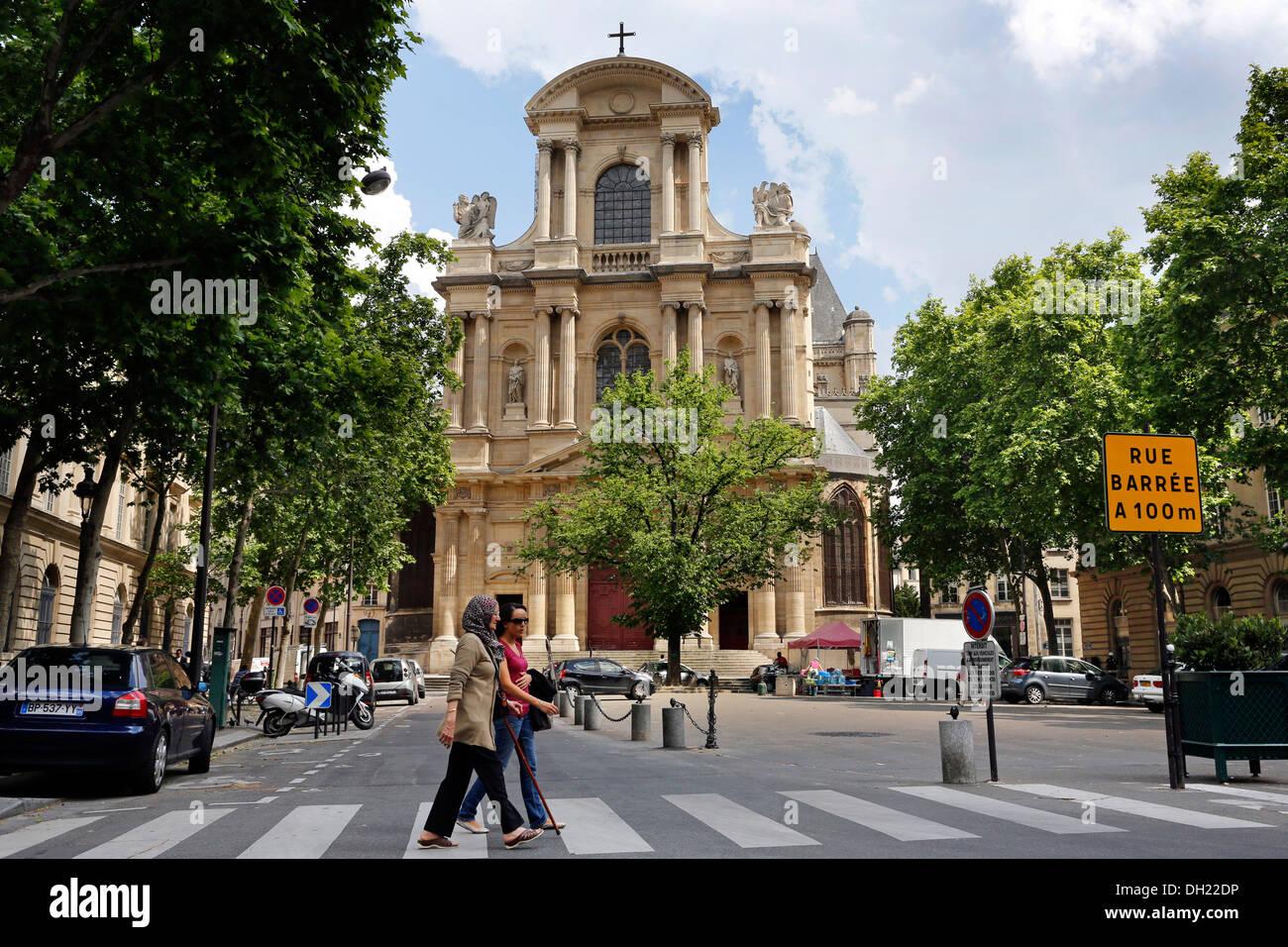 Catholic church Eglise Saint Gervais, City of Paris, France Stock Photo
