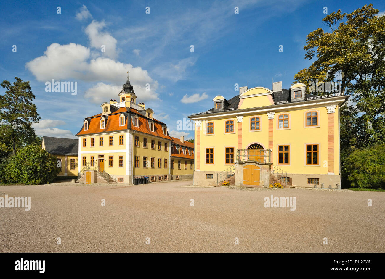 Kavaliershaus building, Schloss Belvedere palace, Weimar, Thuringia Stock Photo