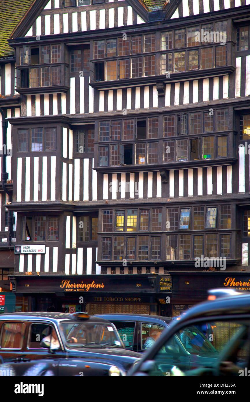 Staple Inn, High Holborn, London, England. - Stock Image