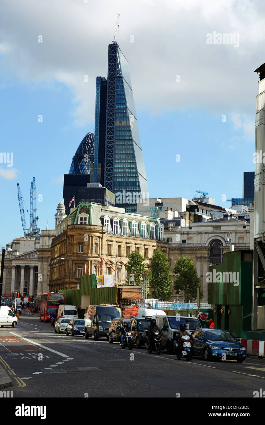 The  building of The Leadenhall Buildingin progress in the City of London. - Stock Image