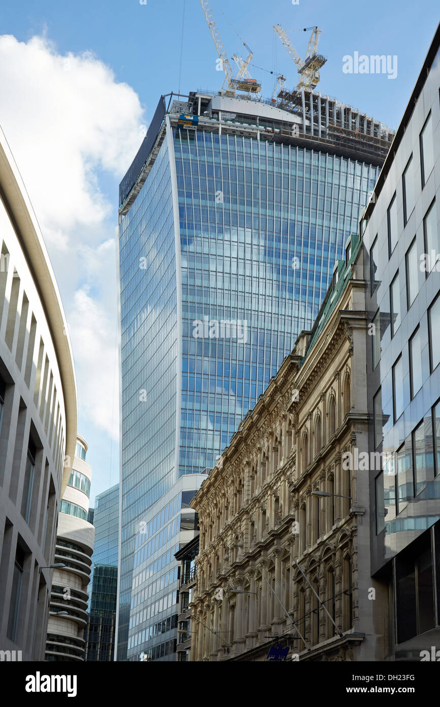 Photograph of 20 Fenchurch Street, building in progress. - Stock Image
