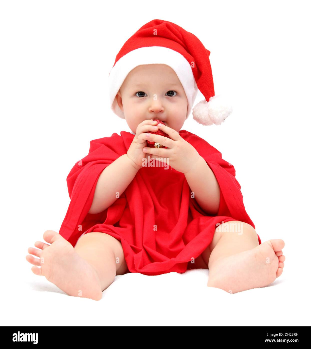 cute christmas baby - Stock Image