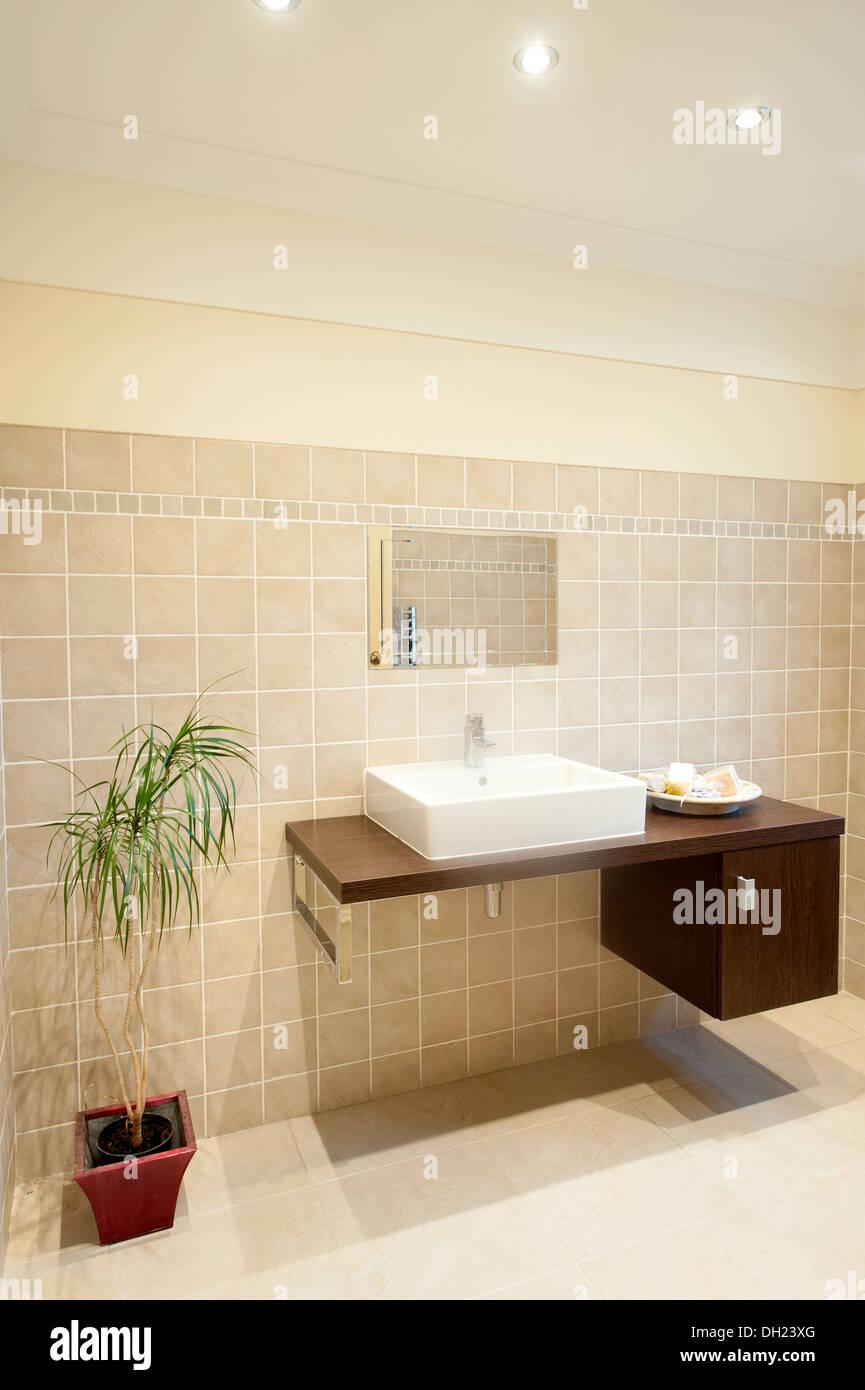 Attirant Modern Minimalist Clean Bathroom Washroom Sink Stock Photo ...