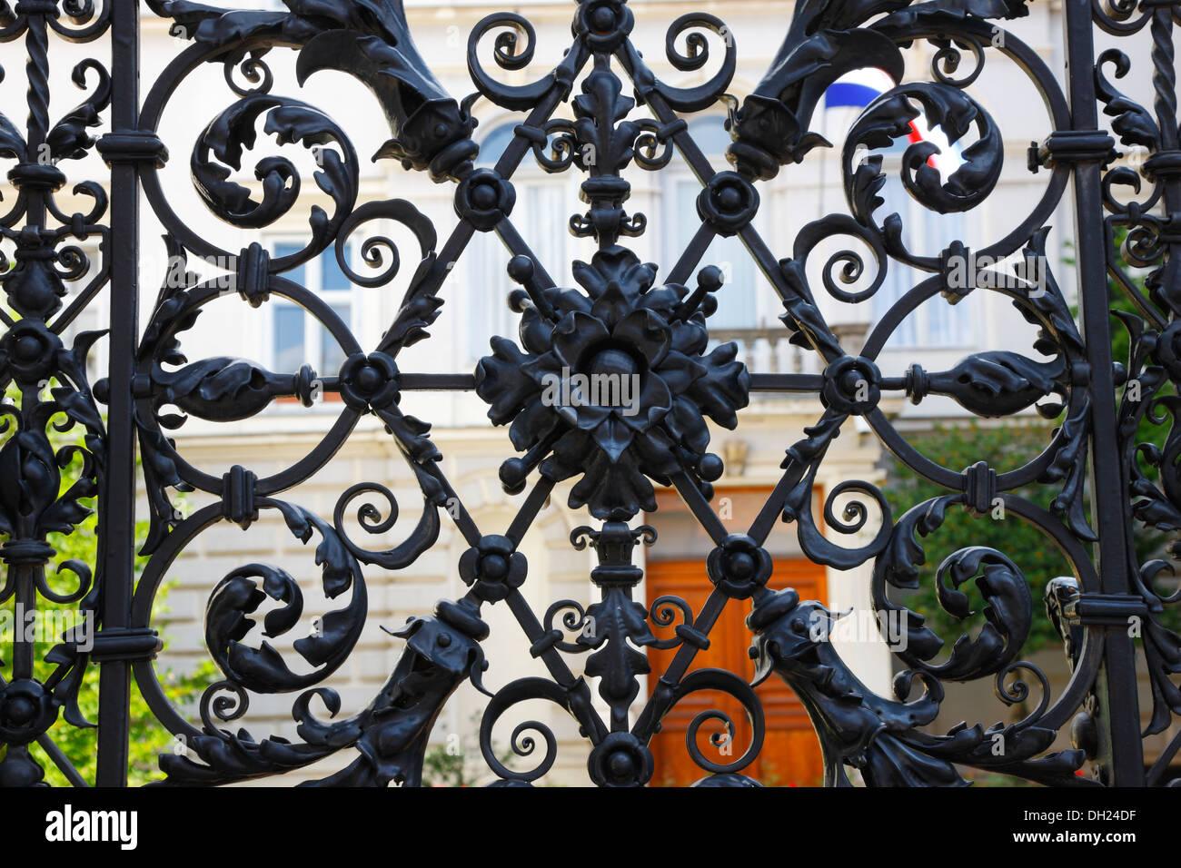 Zagreb metal fence, Croatian History Museum - Stock Image