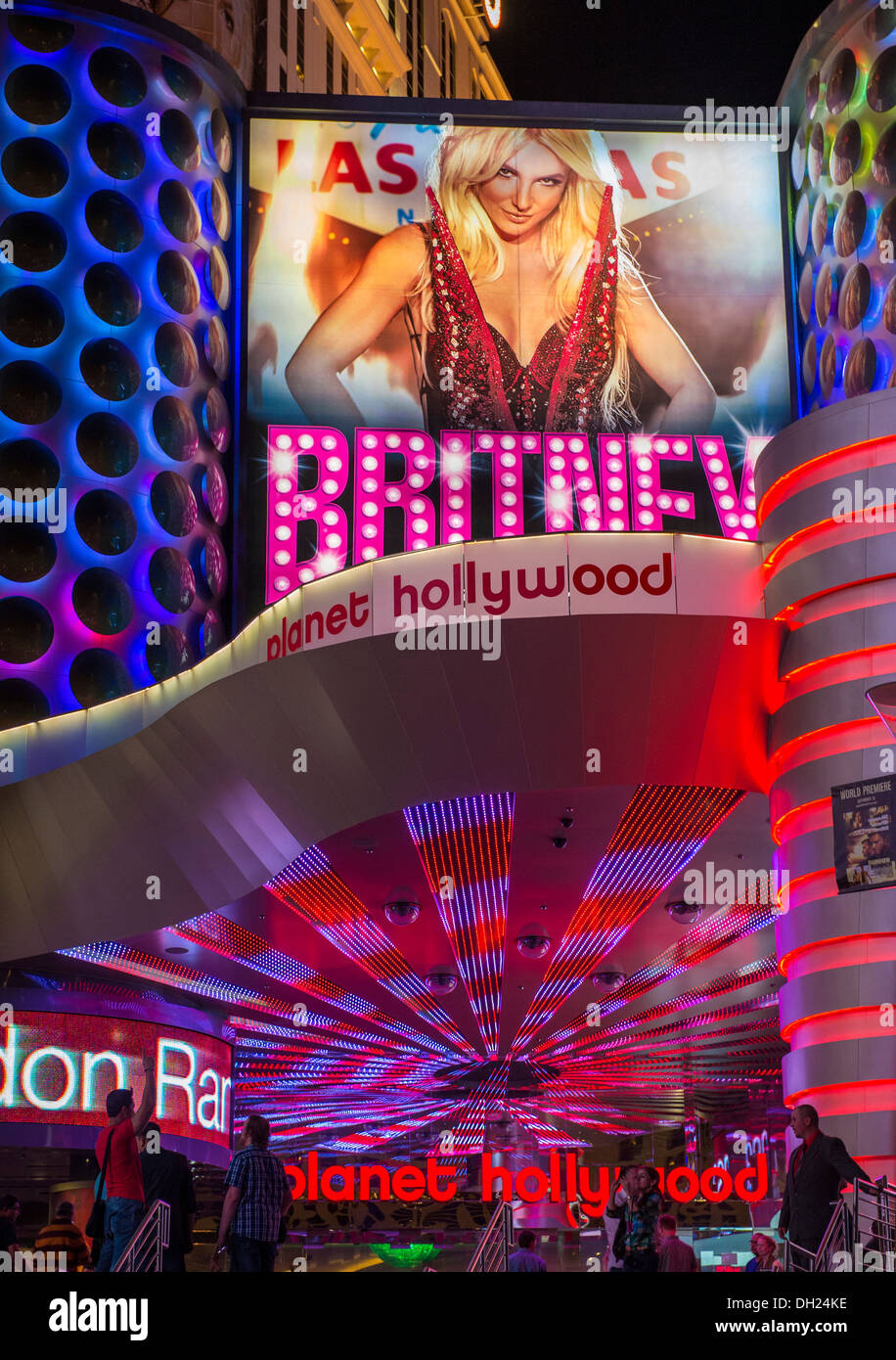 The Britney Spears Show Poster At Planet Hollywood Resort In Las Stock Photo Alamy