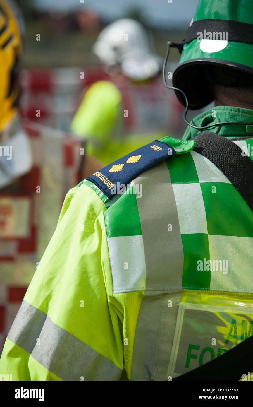 Epaulet on Ambulance Paramedic HART Officer Command - Stock Image