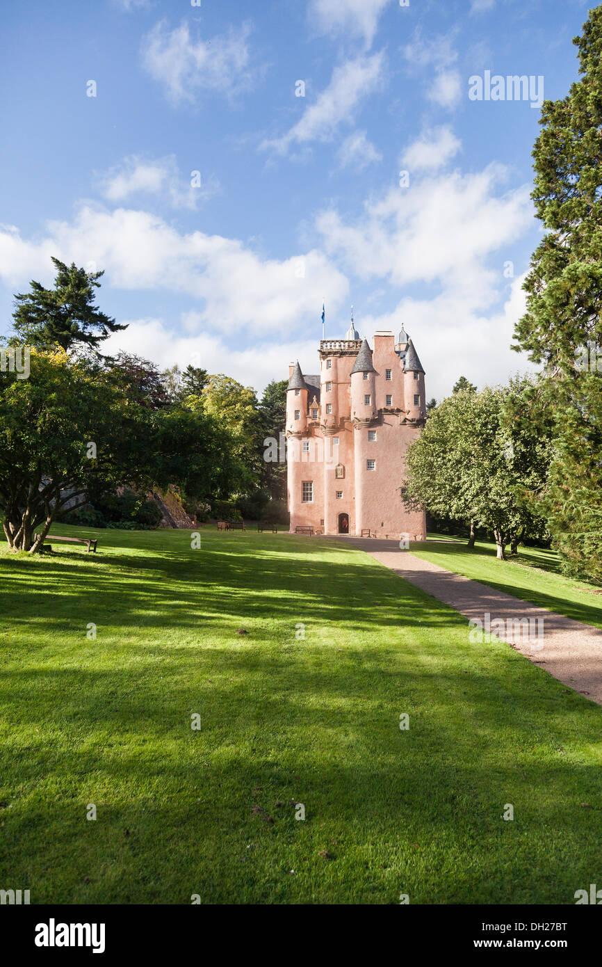Craigievar Castle near Alford in Aberdeenshire,Scotland - Stock Image