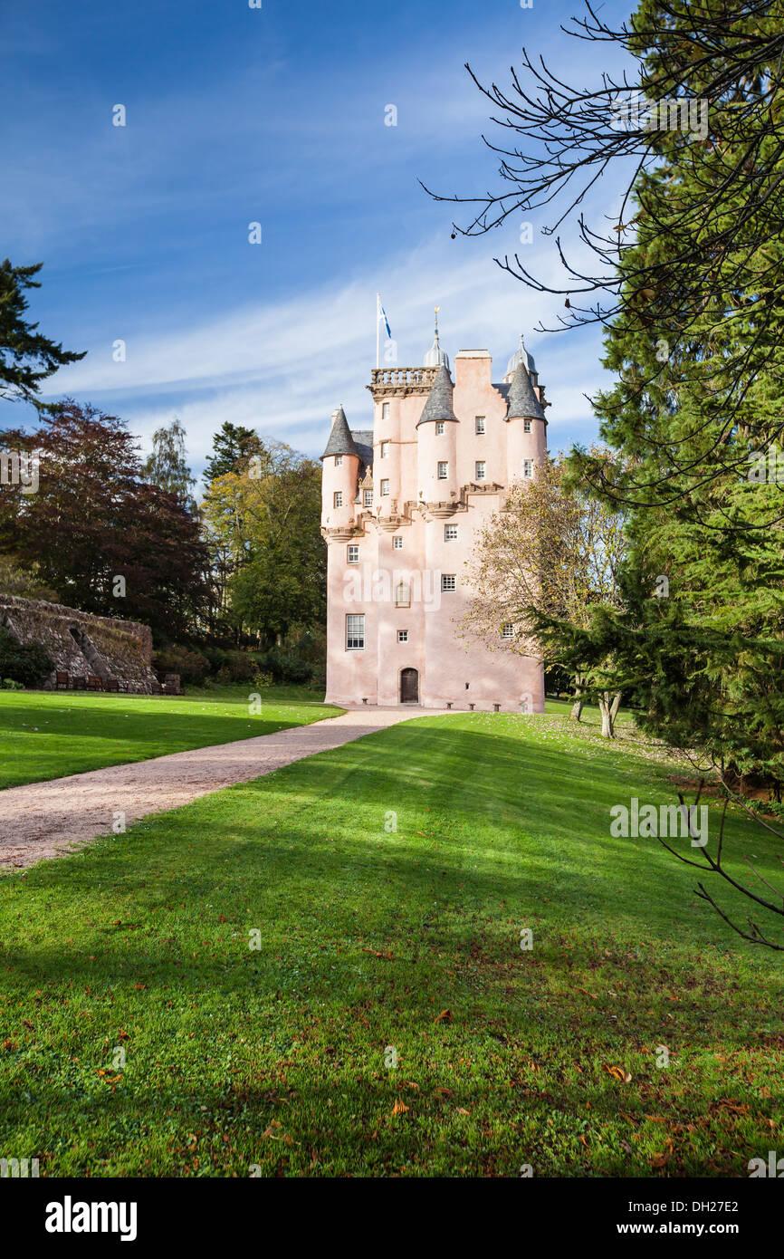 Craigievar Castle in Aberdeenshire,Scotland - Stock Image