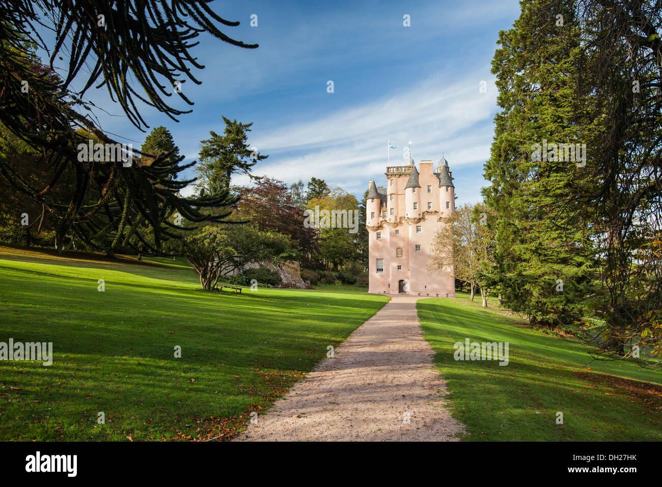 Craigievar Castle in Aberdeenshire, Scotland. - Stock Image