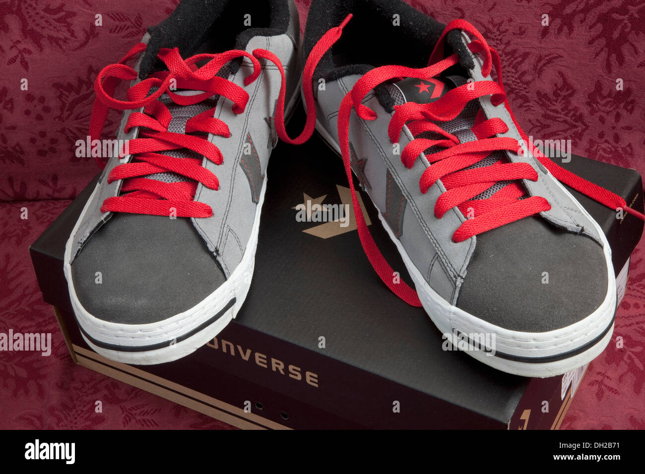 dc5d3649a62e Photographers Converse All Star shoes with red laces on original box. St  Paul Minnesota MN