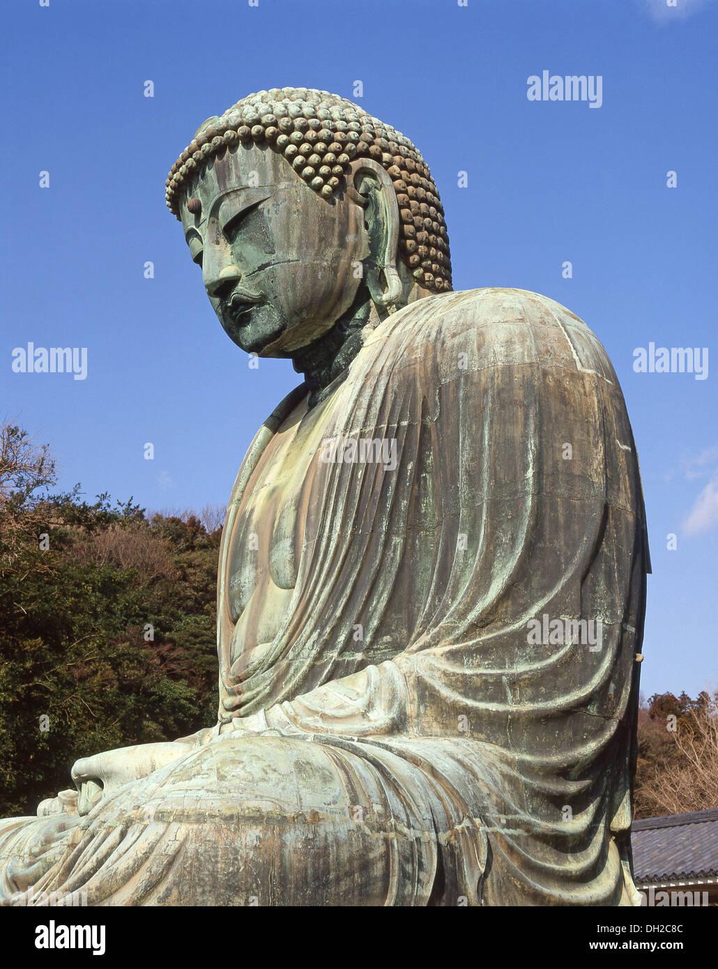 The Great Buddha of Kamakura, Kōtoku-in Temple, Kamakura, Kanagawa Prefecture, Honshu, Japan - Stock Image