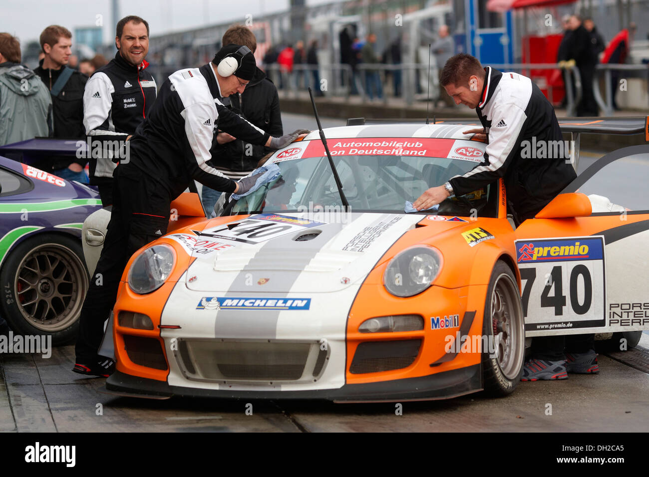 Test-and-tune session at the 'VLN Langstreckenmeisterschaft Nuerburgring' championship, Endurance Racing Championship, the new - Stock Image