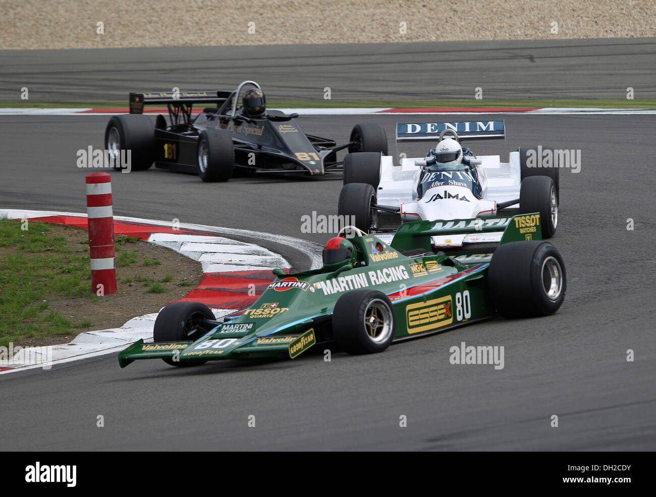 Race of the historic Formula 1 cars, in front Sidney Hole in the ...
