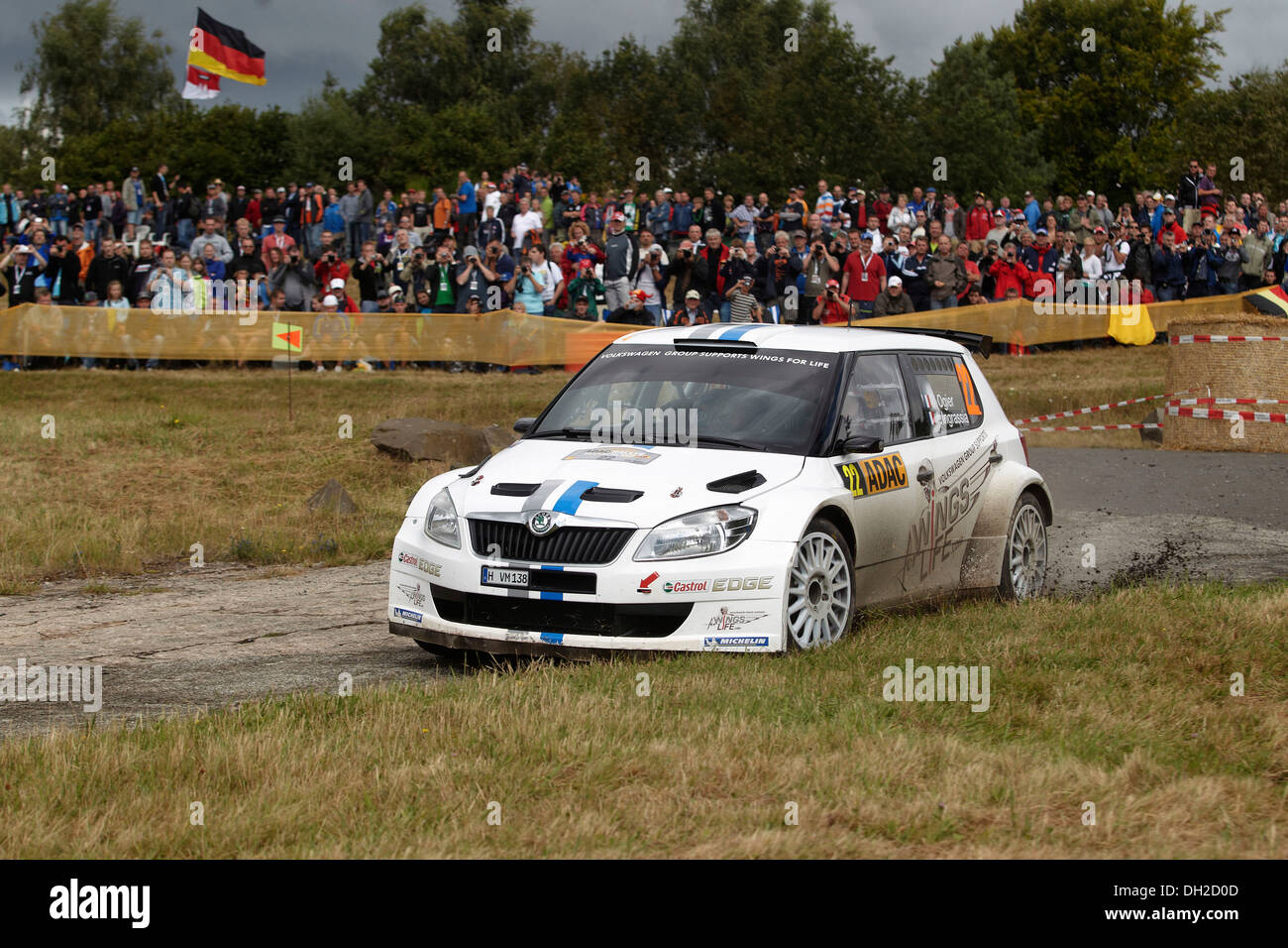 ADAC Rally Germany, special stage, Baumholder military training area, previous year's winner Sebastien Ogier, FRA - Stock Image