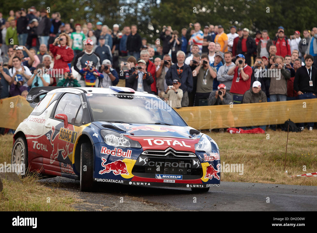 ADAC Rally Deutschland, special stage, Baumholder military training area, Sebastien Loeb, FRA, and co-driver Daniel Elena, MCO - Stock Image