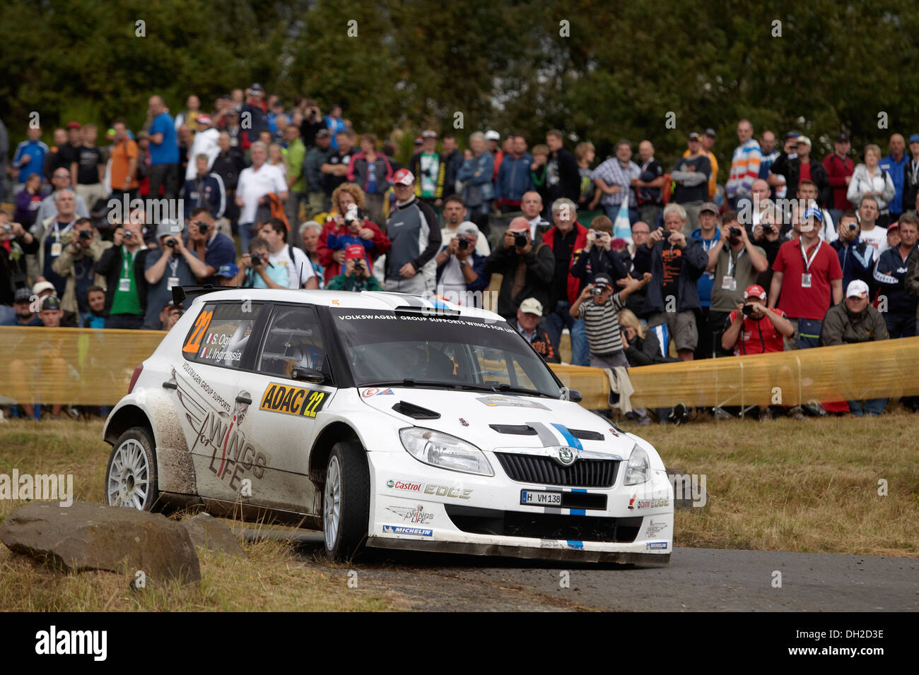ADAC Rally Deutschland, special stage, Baumholder military training area, previous year's winner Sebastien Ogier, FRA - Stock Image