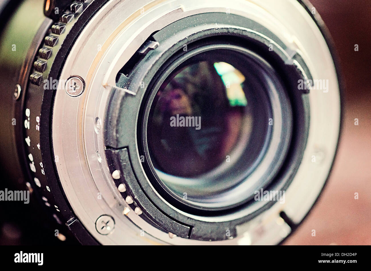 A macro of an old Nikon Lens Stock Photo: 62134486 - Alamy