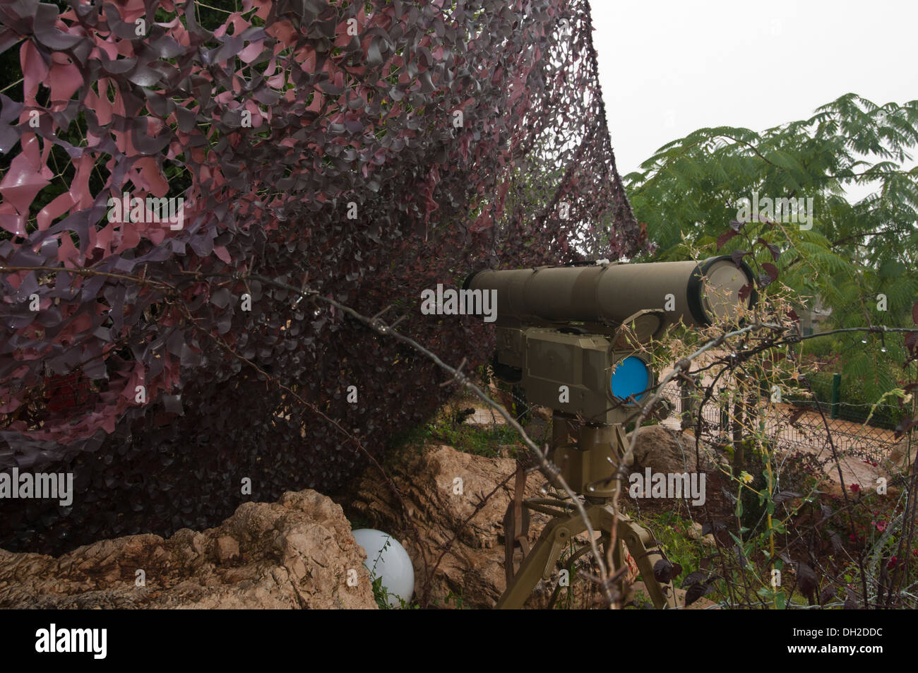 Anti Tank Guided Missile System Kornet - E,  NATO reporting name AT-14 Spriggan. Mleeta, Hezbollah Museum, South Lebanon. - Stock Image