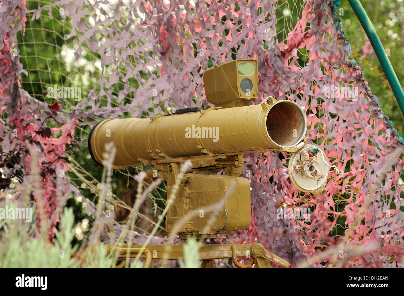 The 9K111 Fagot is a SACLOS wire-guided anti-tank missile system of the Soviet Union.  Its NATO reporting name is AT-4 Spigot. - Stock Image