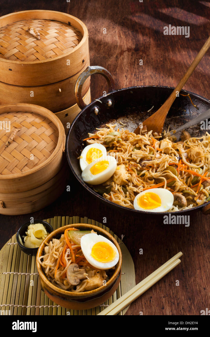 Chinese Noodles - Stock Image