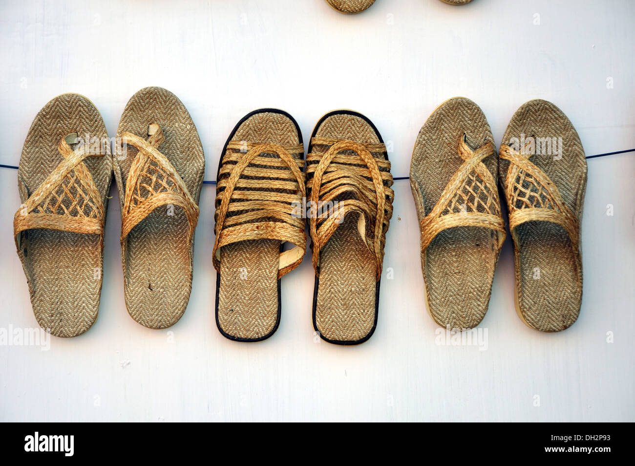 b89ba658471 jute slippers handicraft of west bengal India Stock Photo  62141663 ...
