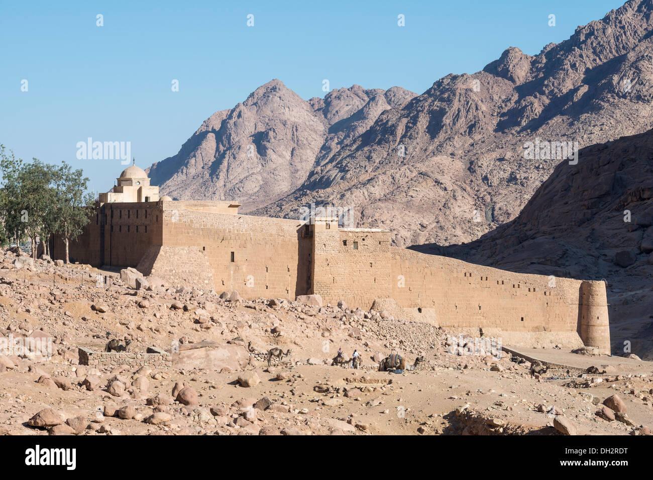 Saint Catherines Monastery at Mount Sinai, Sinai, Egypt - Stock Image