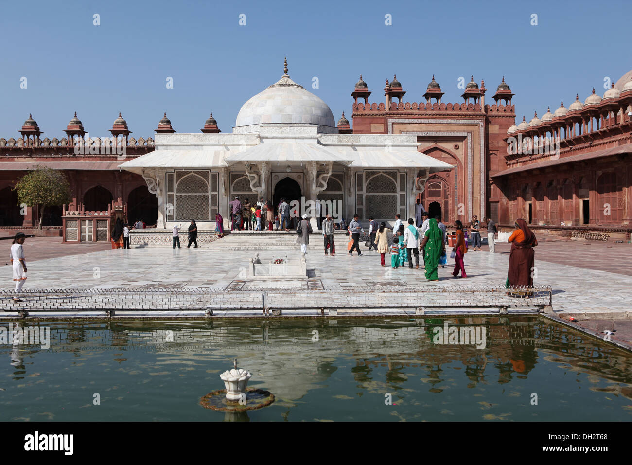 Grave of Shaikh Alauddin Chisti, Jama Masjid Mosque,Fatehpur Sikri, Uttar Pradesh, India, - Stock Image