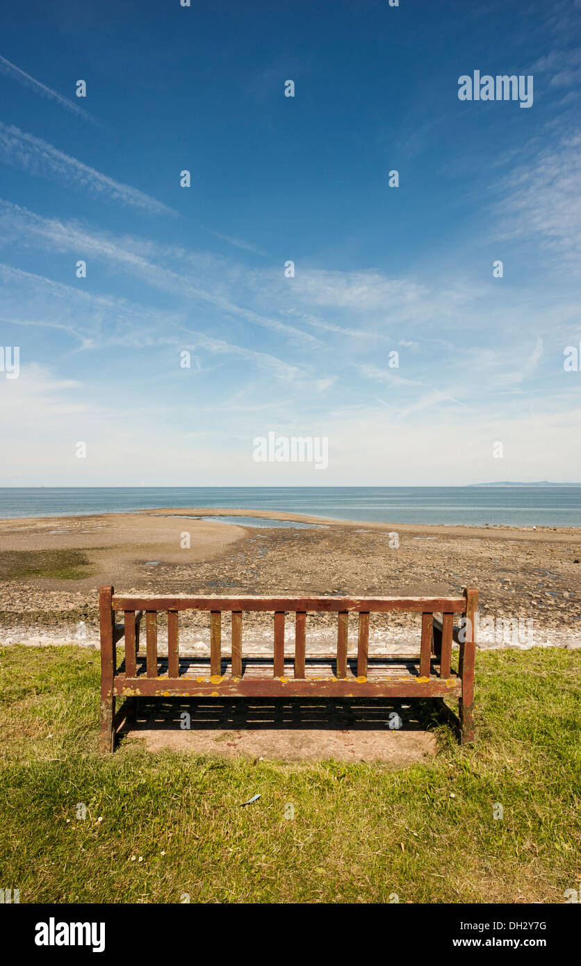 Looking out to Sea-Rhos on Sea - Stock Image