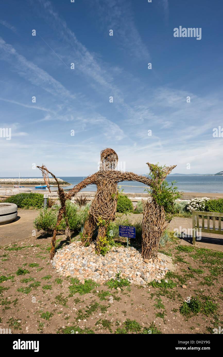 Rhos on Sea promenade-Britain in Bloom - Stock Image