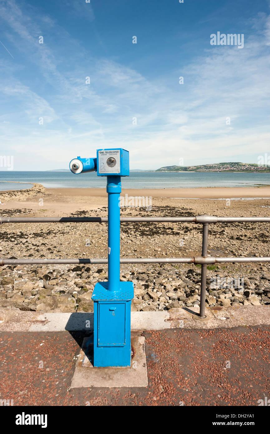 Rhos on Sea promenade-Talking Telescope - Stock Image