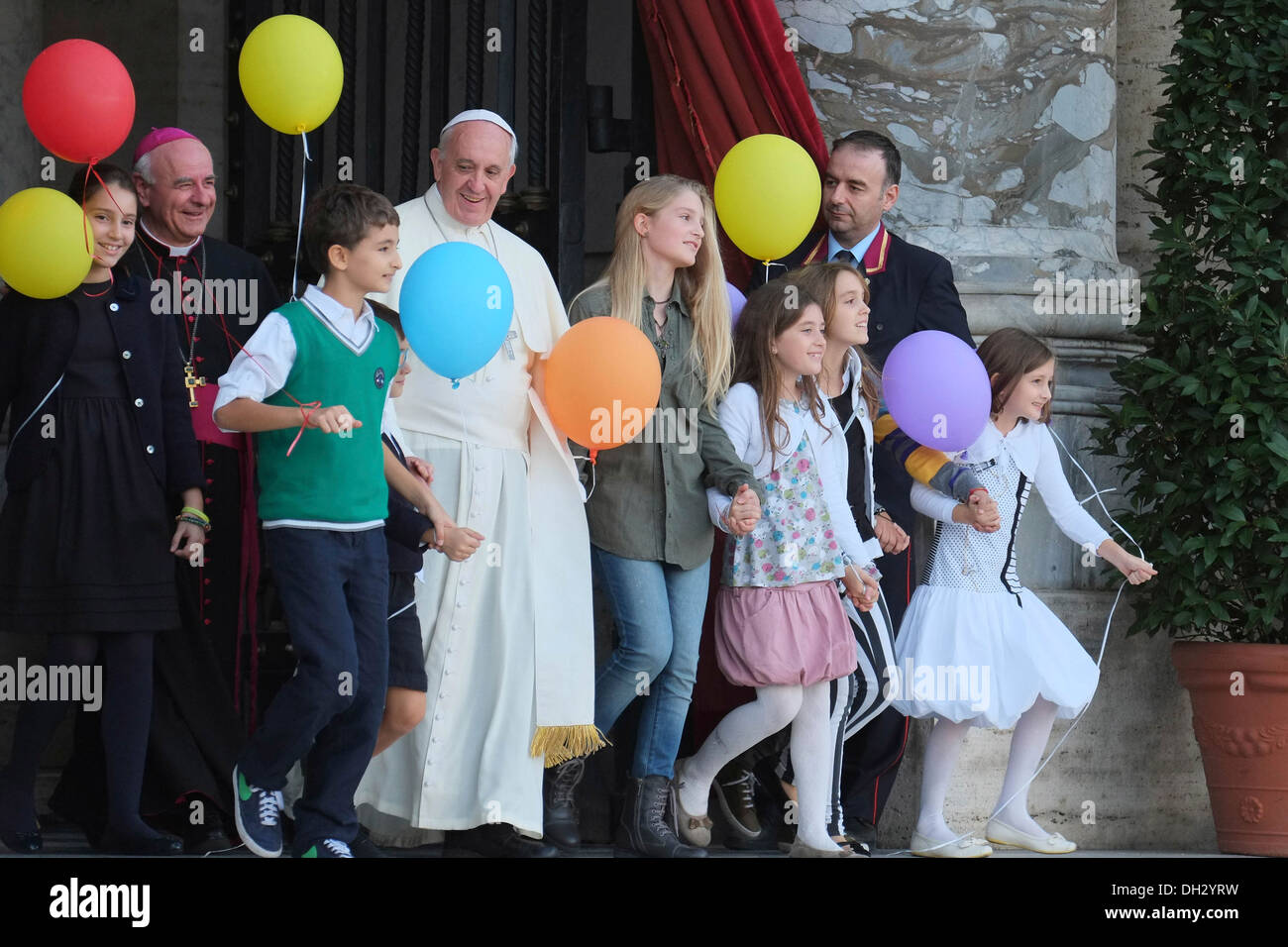 Europe Vaticano About 100000 persons reached St. Peter Square the 26 of October to celebrate the Family Day with Pope Franciscus - Stock Image