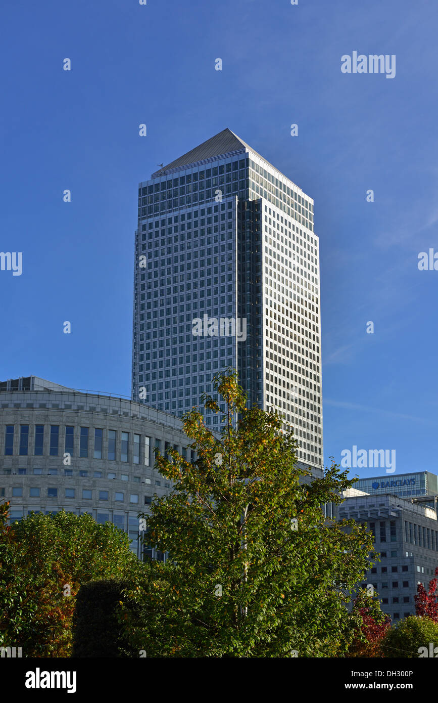 One Canada Square, Canary Wharf, Isle of Dogs, Docklands, London E14, United Kingdom - Stock Image