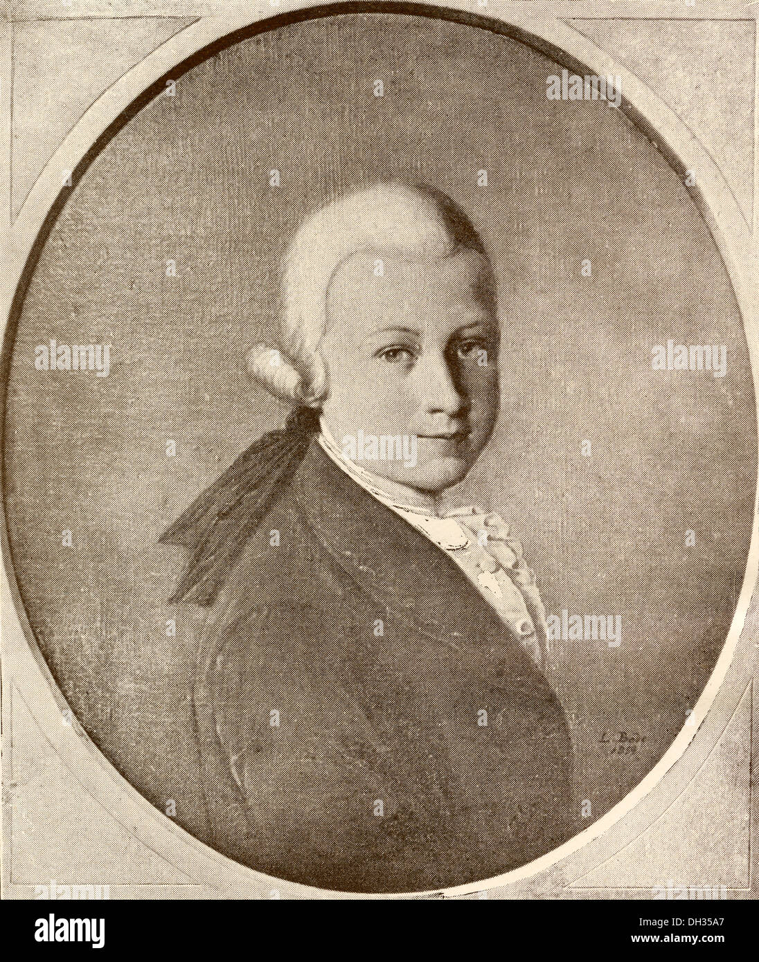 Wolfgang Amadeus Mozart, 1756 - 1791. Austrian composer and musician as a child. - Stock Image