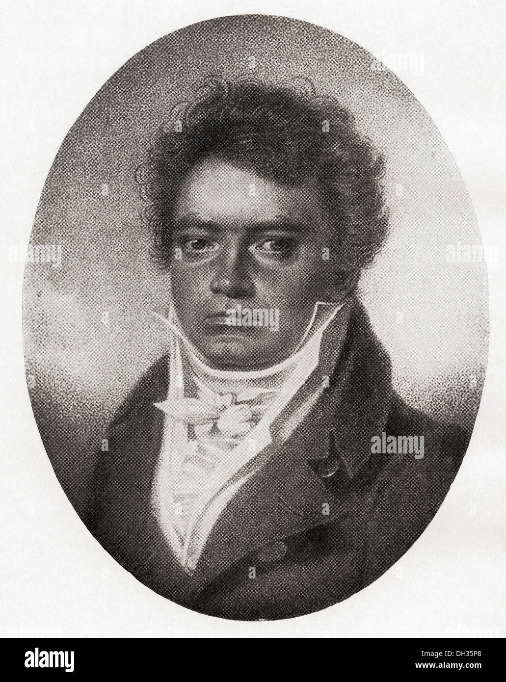 Ludwig van Beethoven, 1770 - 1827. German composer and pianist. Stock Photo