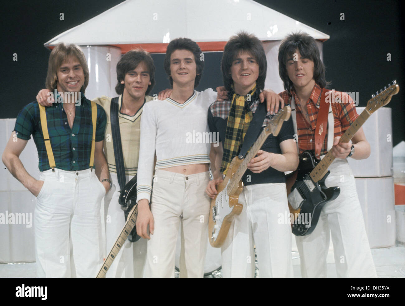 BAY CITY ROLLERS UK pop group in 1975 - Stock Image